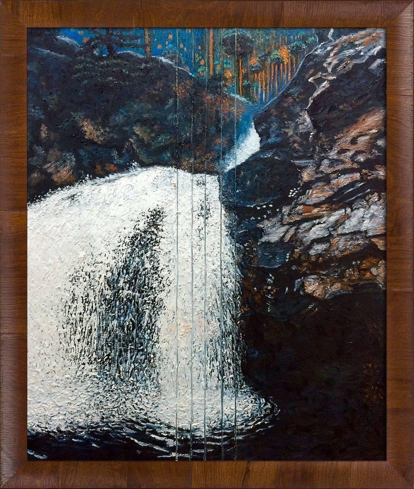 Mantykoski Waterfall Pre-Framed