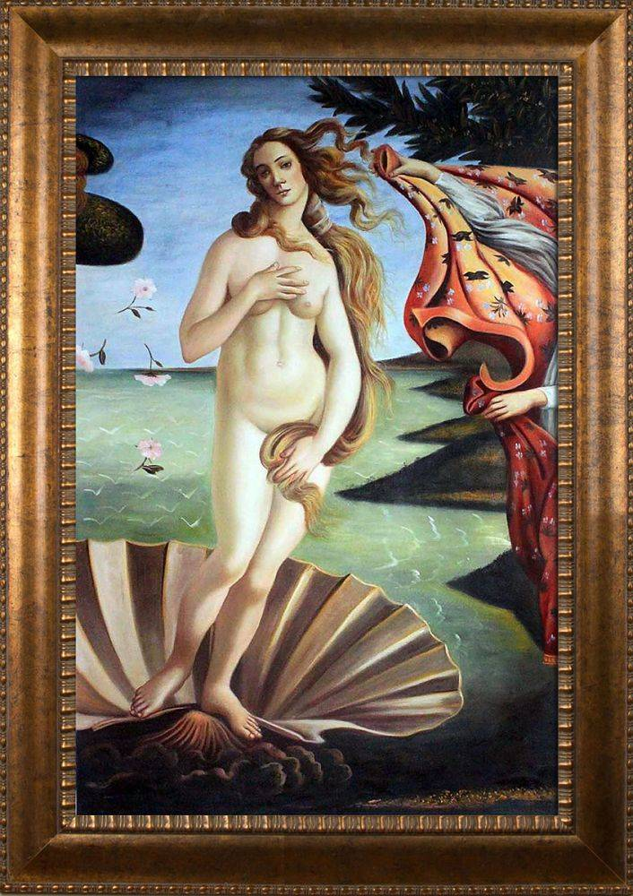 Birth of Venus (center panel) Pre-Framed