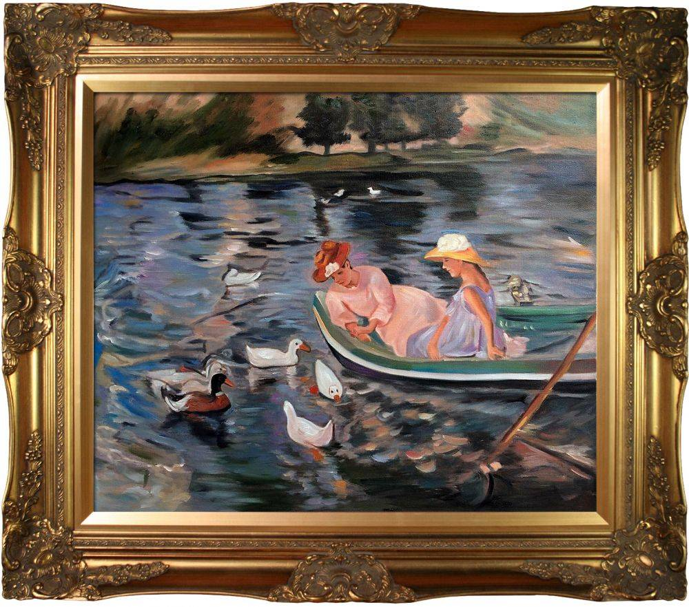 Mary cassatt summertime pre framed pre framed oil for Framed reproduction oil paintings