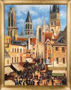 The Old Market at Rouen and the Rue de l'Epicerie Pre-Framed