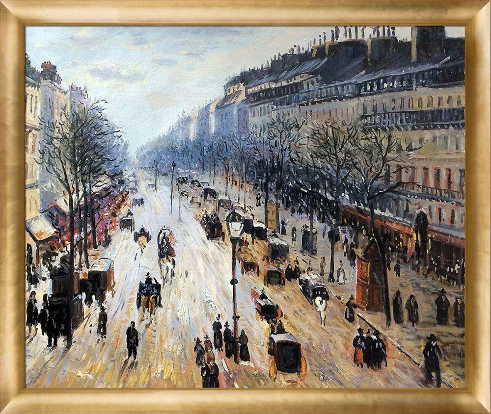 Boulevard Montmartre on a Winter Morning Pre-Framed