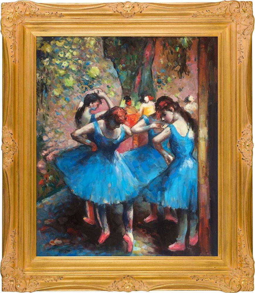 Dancers in Blue Pre-Framed