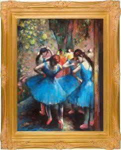 Dancers in Blue Pre-Framed