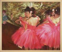 Dancers in Pink Pre-Framed