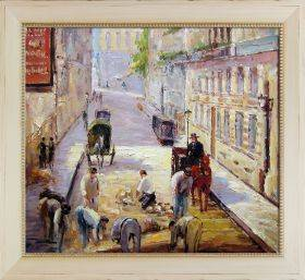 Rue Mosnier with Road Menders Pre-Framed
