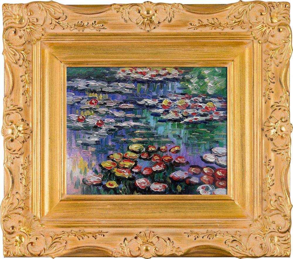 Water Lilies (pink) Pre-Framed