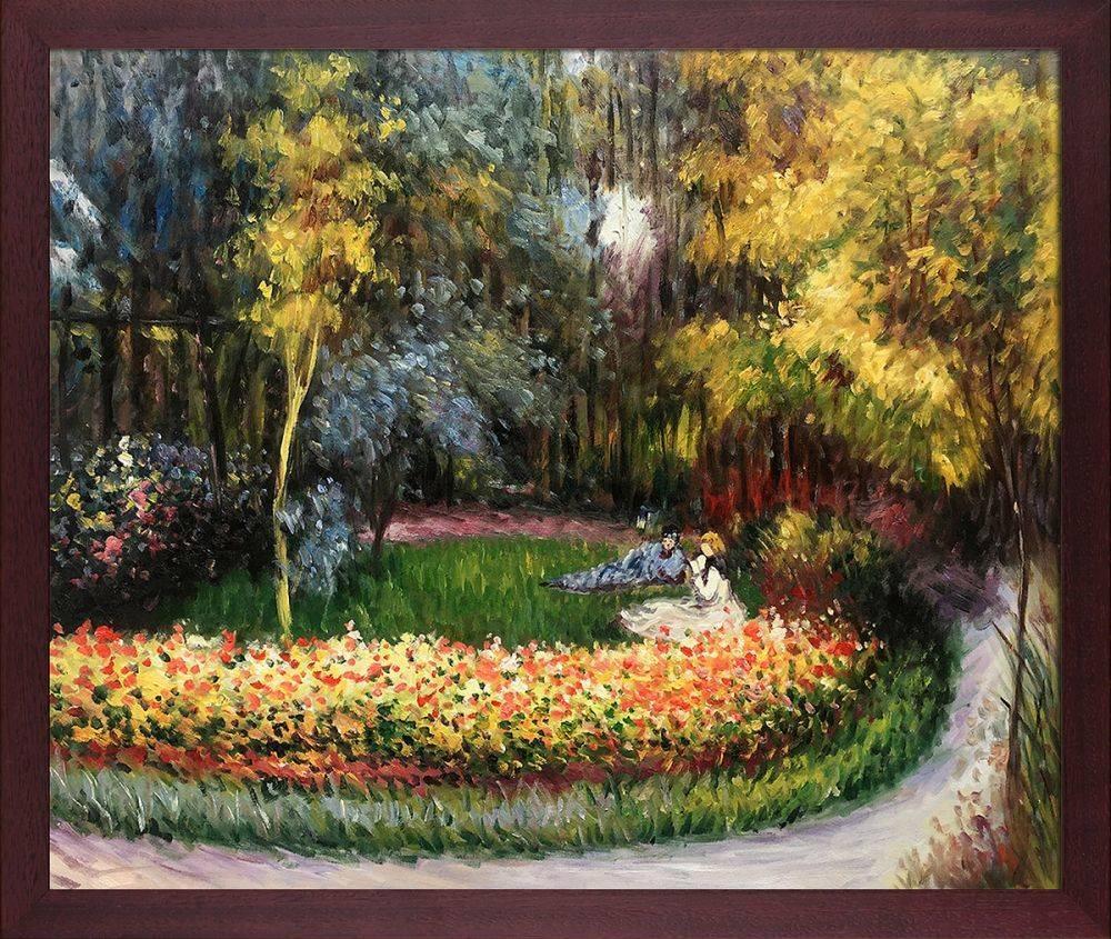 In the Garden, 1875 Pre-Framed