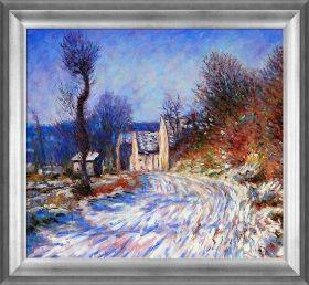 Road to Giverny in Winter Pre-Framed