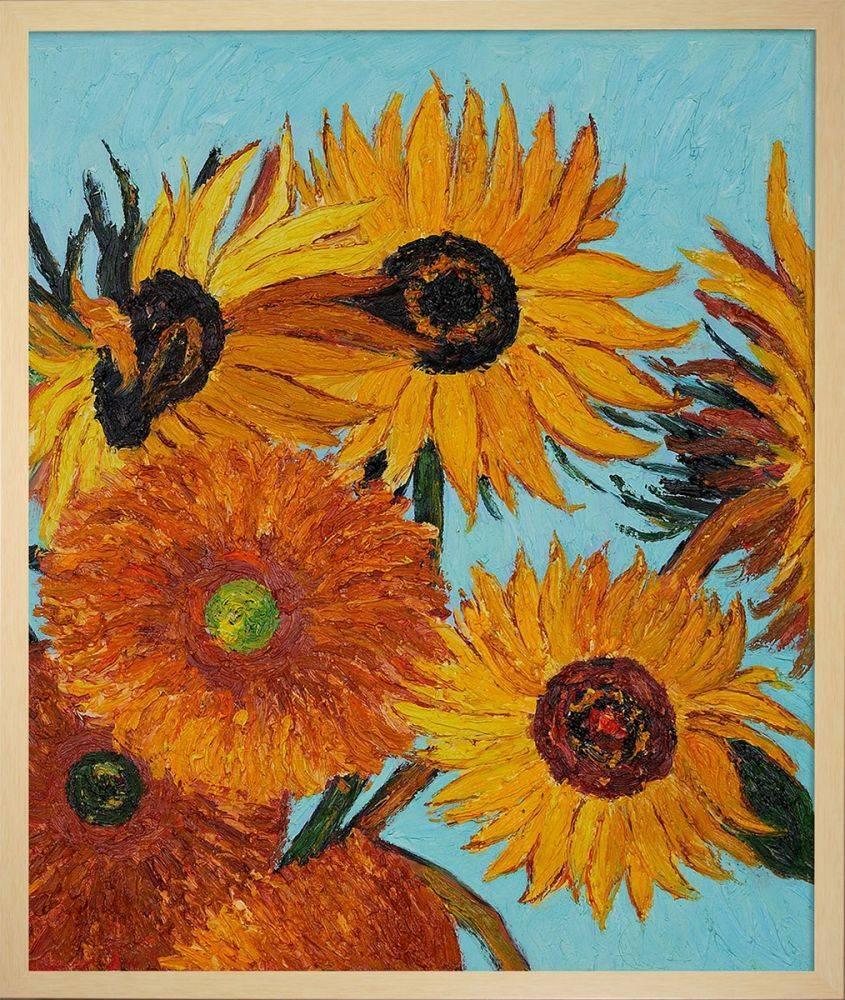 Sunflowers Detail (vertical) Pre-Framed