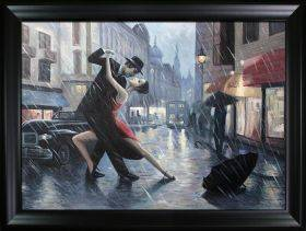 Life is a Dance in The Rain Pre-Framed