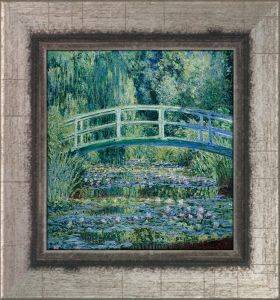 Water Lilies and Japanese Bridge Pre-Framed Miniature