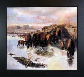 The Buffalo Herd Pre-Framed