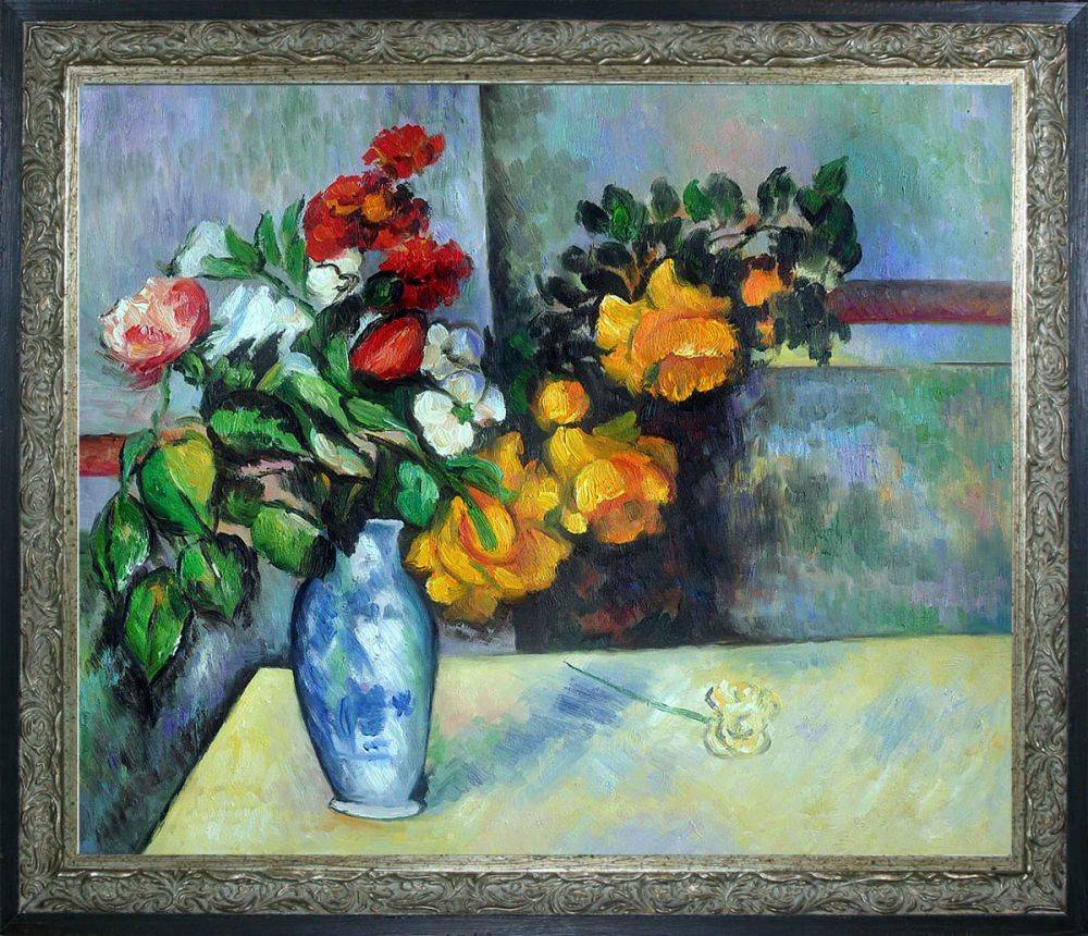 Still Life Flowers in Vase Pre-Framed