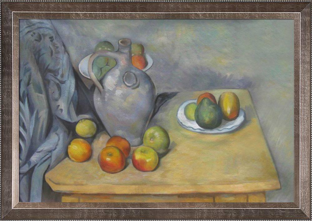 Pitchet et Fruits sur une Table Pre-Framed