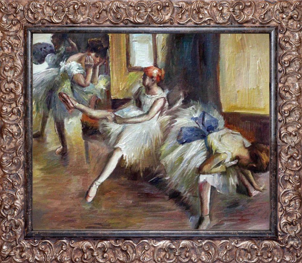 Ballet Rehersal (detail) Pre-Framed