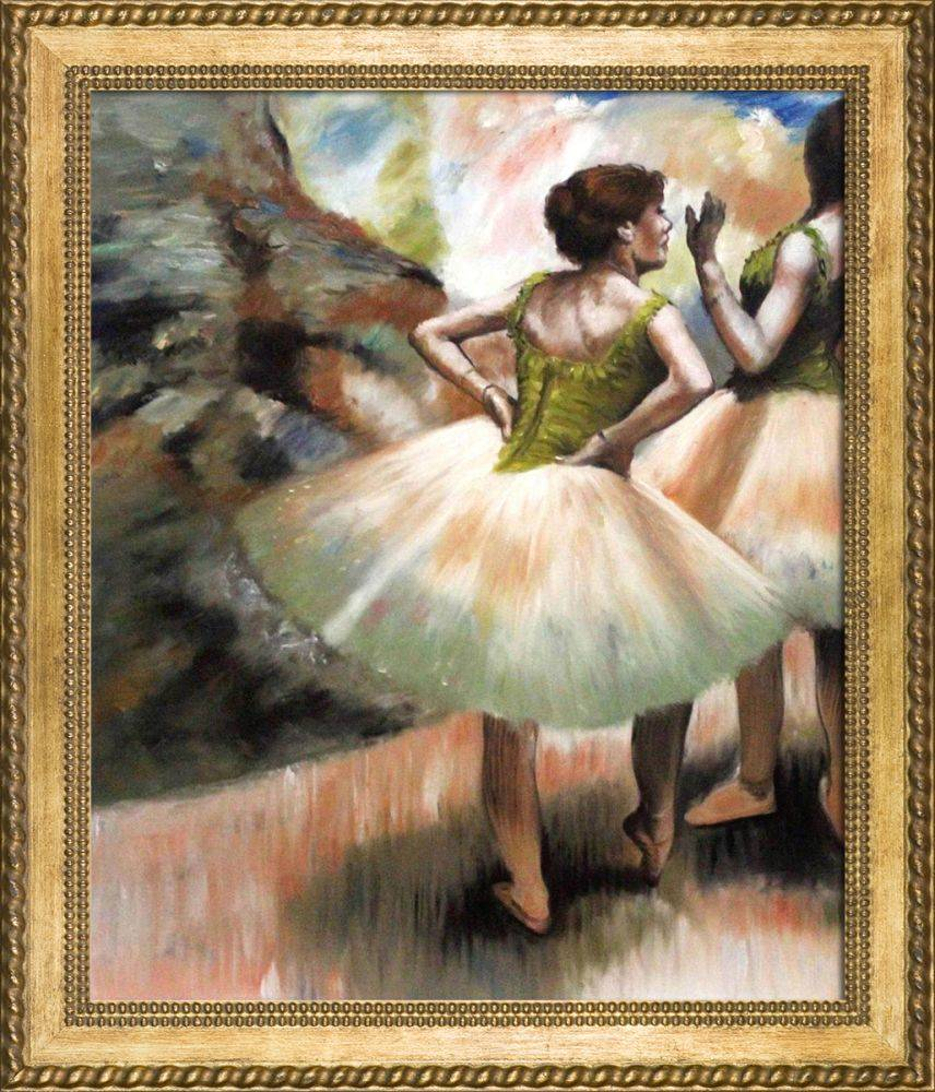 Dancers, Pink and Green Pre-Framed