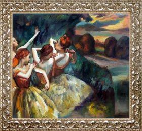 Four Dancers, 1900 Pre-Framed