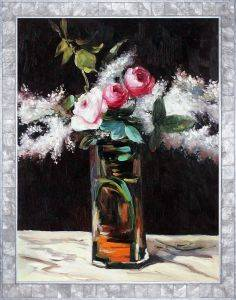 Roses et Lilas Pre-Framed