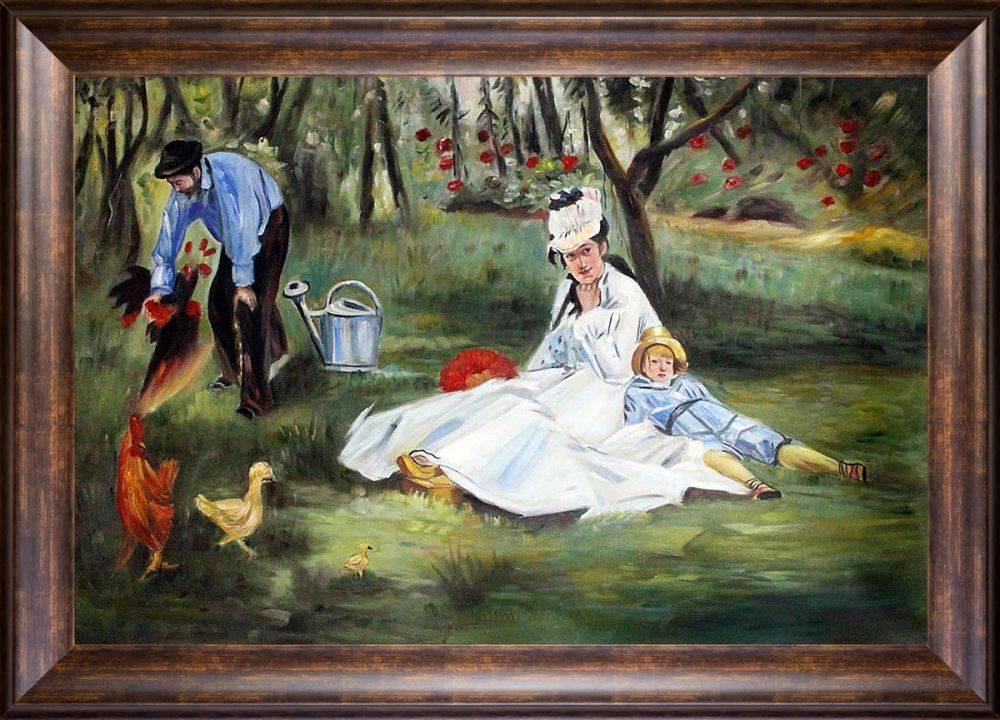 The Monet Family in the Garden Pre-Framed