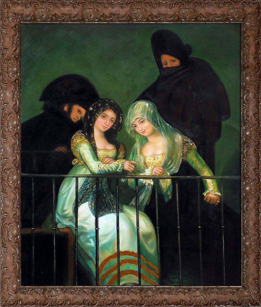 Group on a Balcony (Luxury Line) Pre-Framed