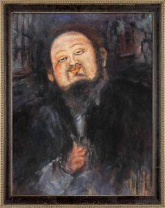 Portrait of Diego Rivera 2 Pre-Framed