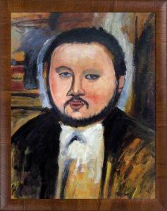 Portrait of Diego Rivera Pre-Framed