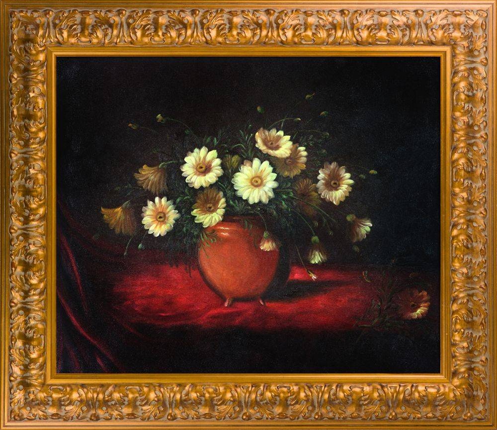 Yellow Daisies in a Bowl Pre-Framed