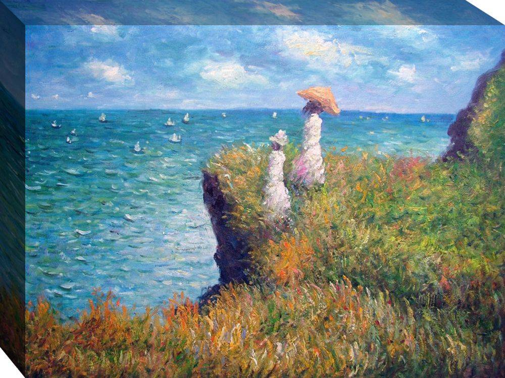Cliff Walk at Pourville Gallery-Wrapped