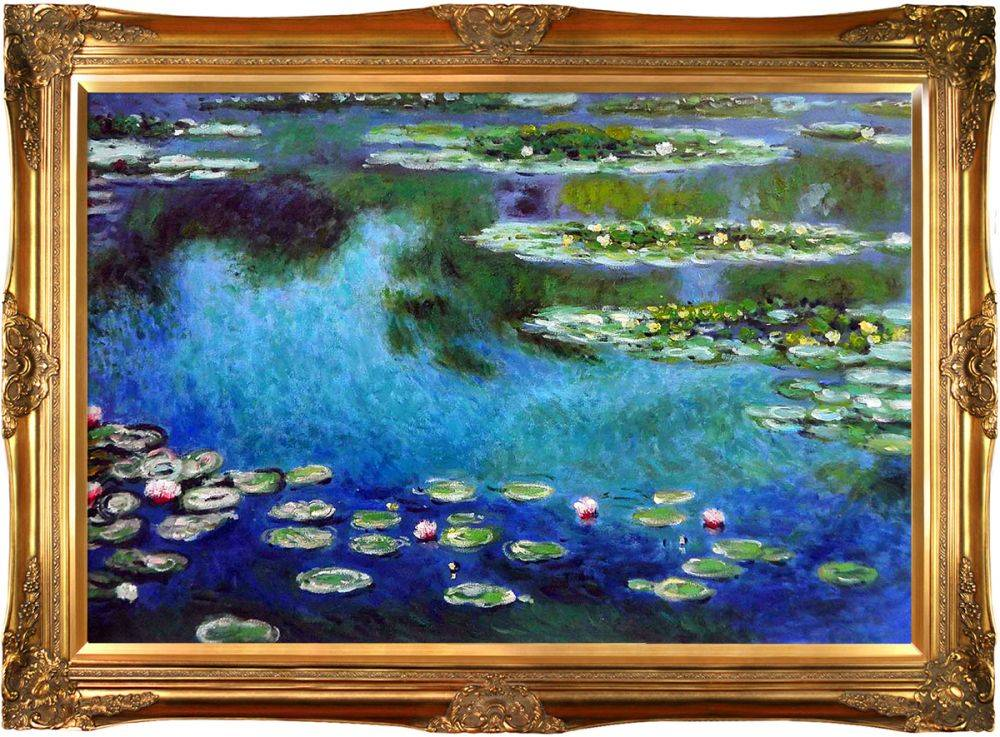 Claude Monet Water Lilies Pre Framed Pre Framed Oil Painting