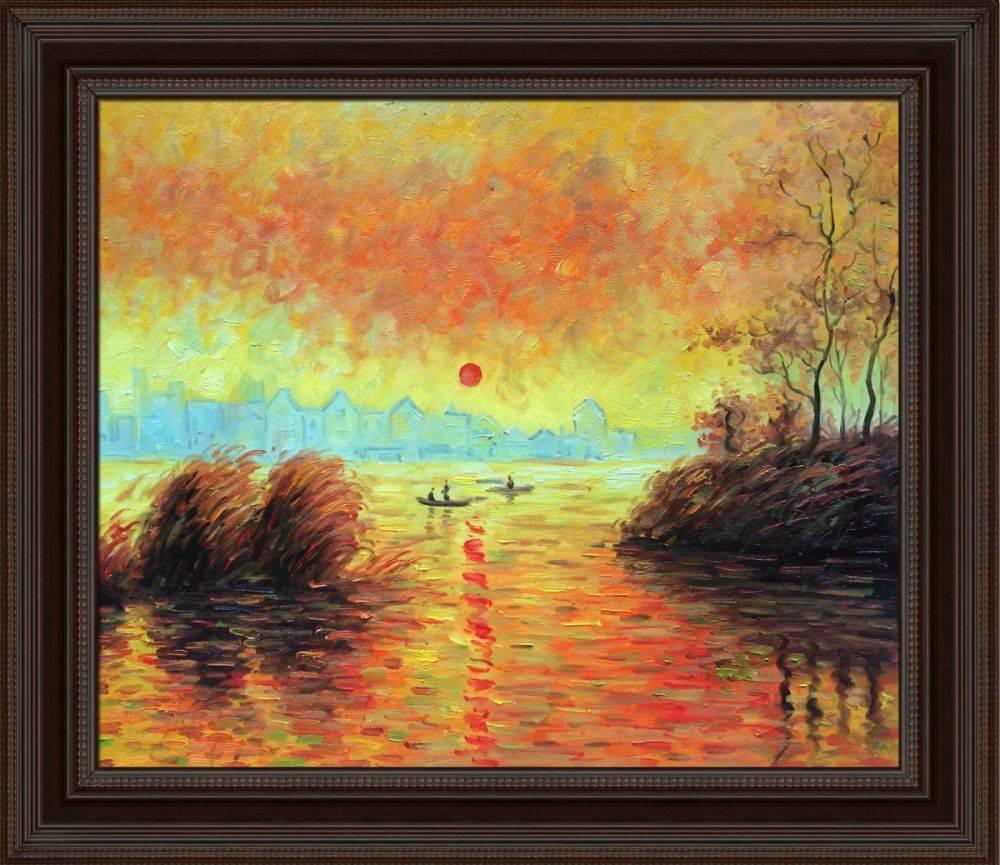 Le Coucher Du Soleil La Seine Pre-Framed