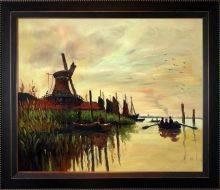 Windmill at Zaandam Pre-Framed