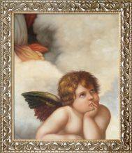 Madonna Sixtina (cherub detail) Pre-Framed