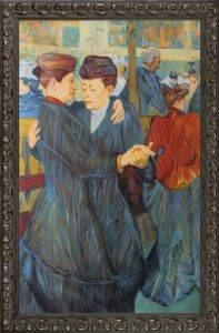 At the Moulin Rouge Two Women Waltzing Pre-Framed