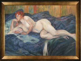 Reclining Nude Pre-Framed