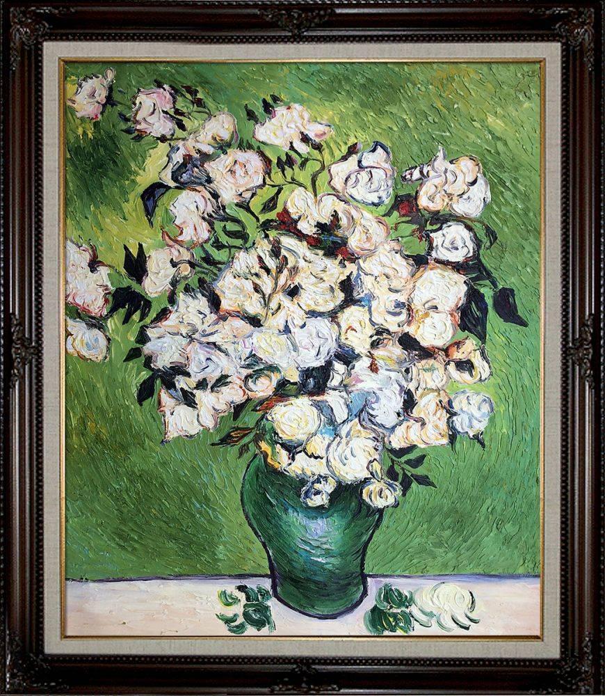 Vase with Roses Pre-Framed