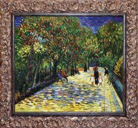 Avenue with Flowering Chestnut Trees at Arles, 1889 Pre-Framed