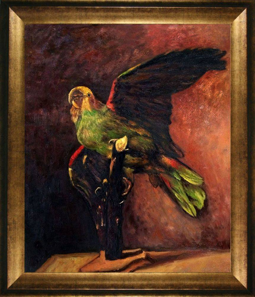 The Green Parrot Pre-Framed