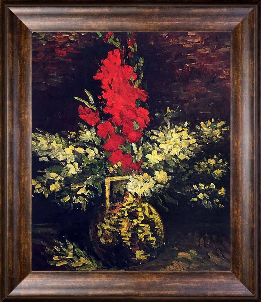 Vase with Gladioli and Carnations, 1886
