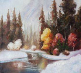 Winter Landscape Reproduction