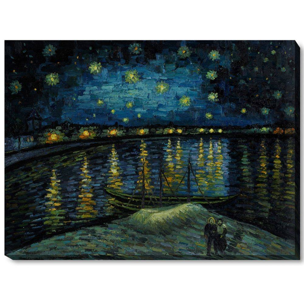 Starry Night Over The Rhone Gallery Wrap