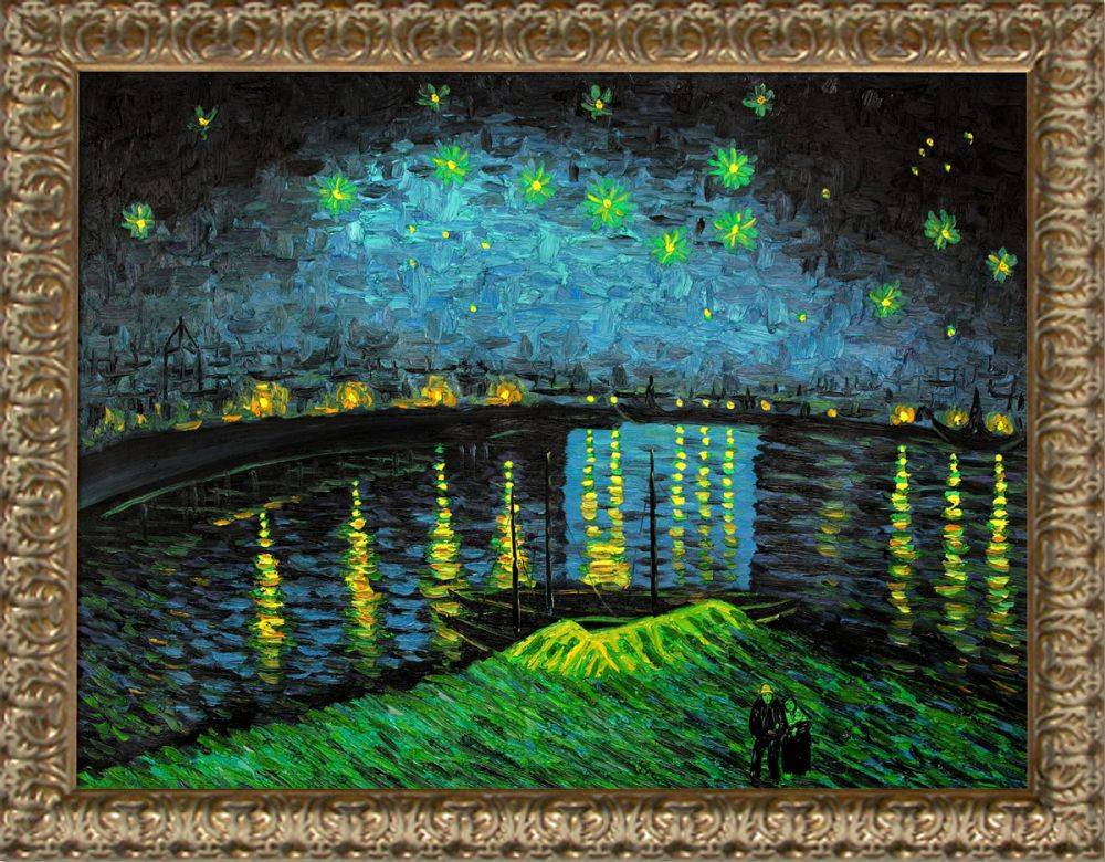 Starry Night Over the Rhone Pre-Framed