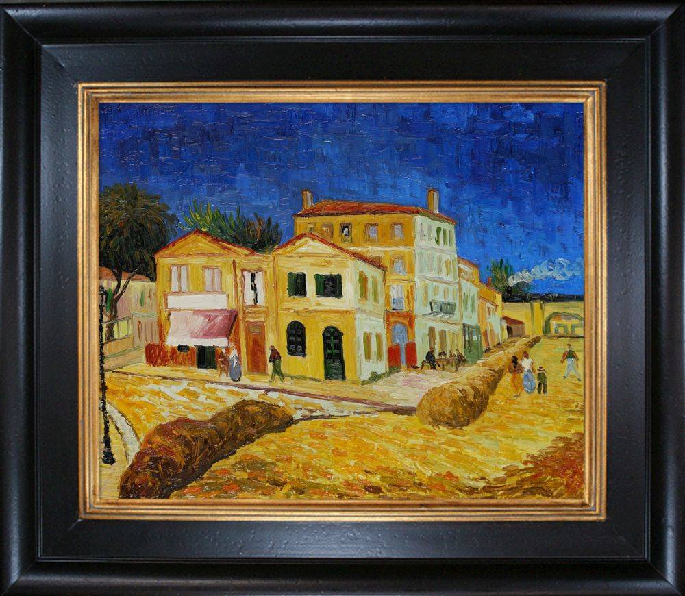 Vincent's House in Arles (The Yellow House) Pre-Framed