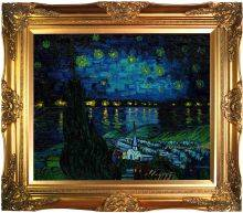 Starry Rhone Collage Pre-Framed