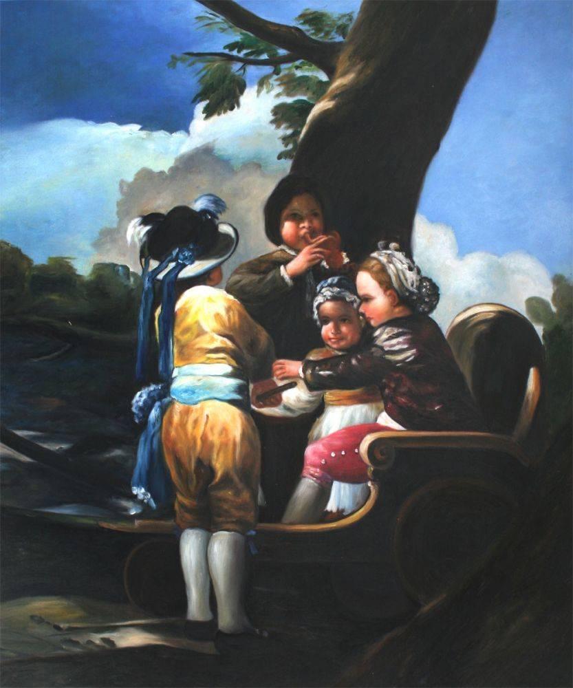 Children With A Cart