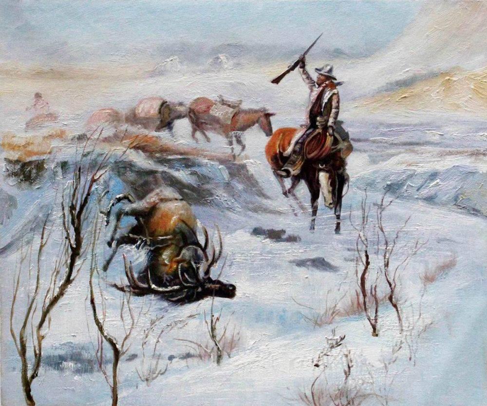 Christmas Dinner for the Men on the Trail
