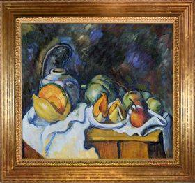 Still Life with Melons and Apples Pre-Framed