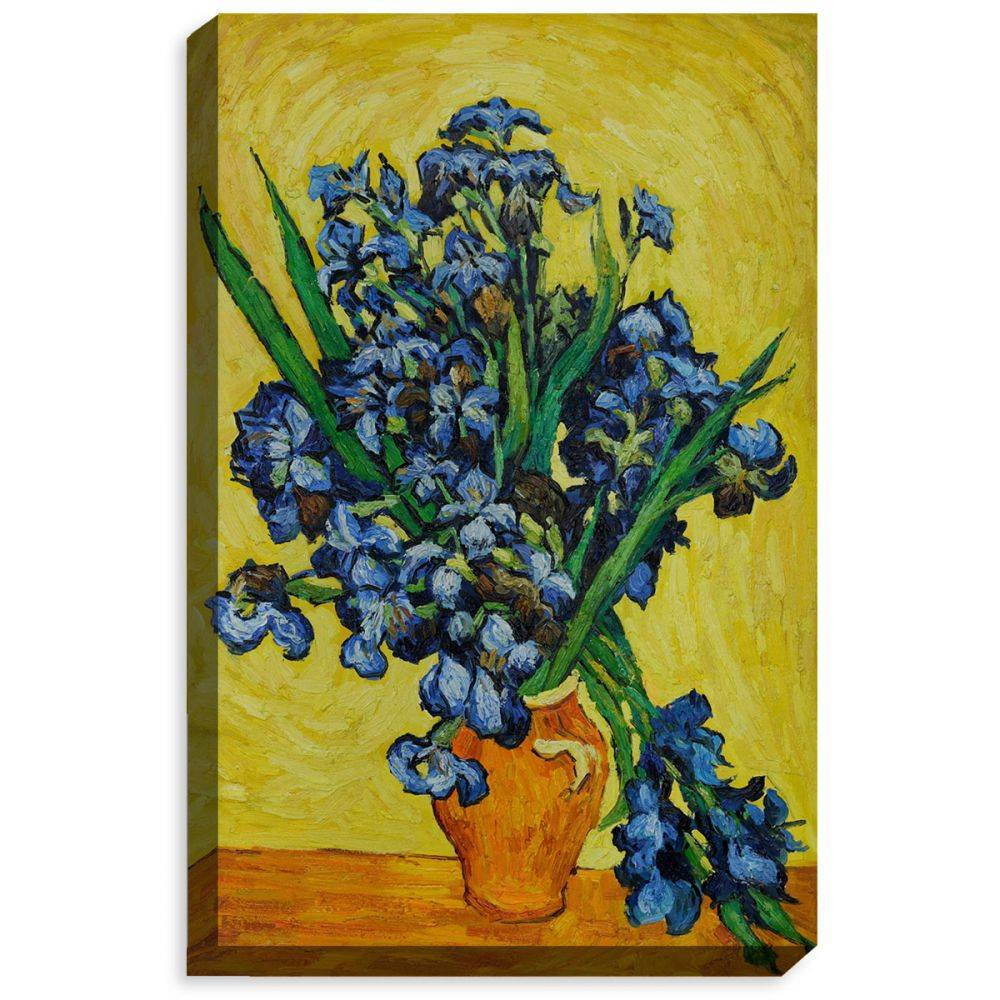 Irises in a Vase Gallery Wrap