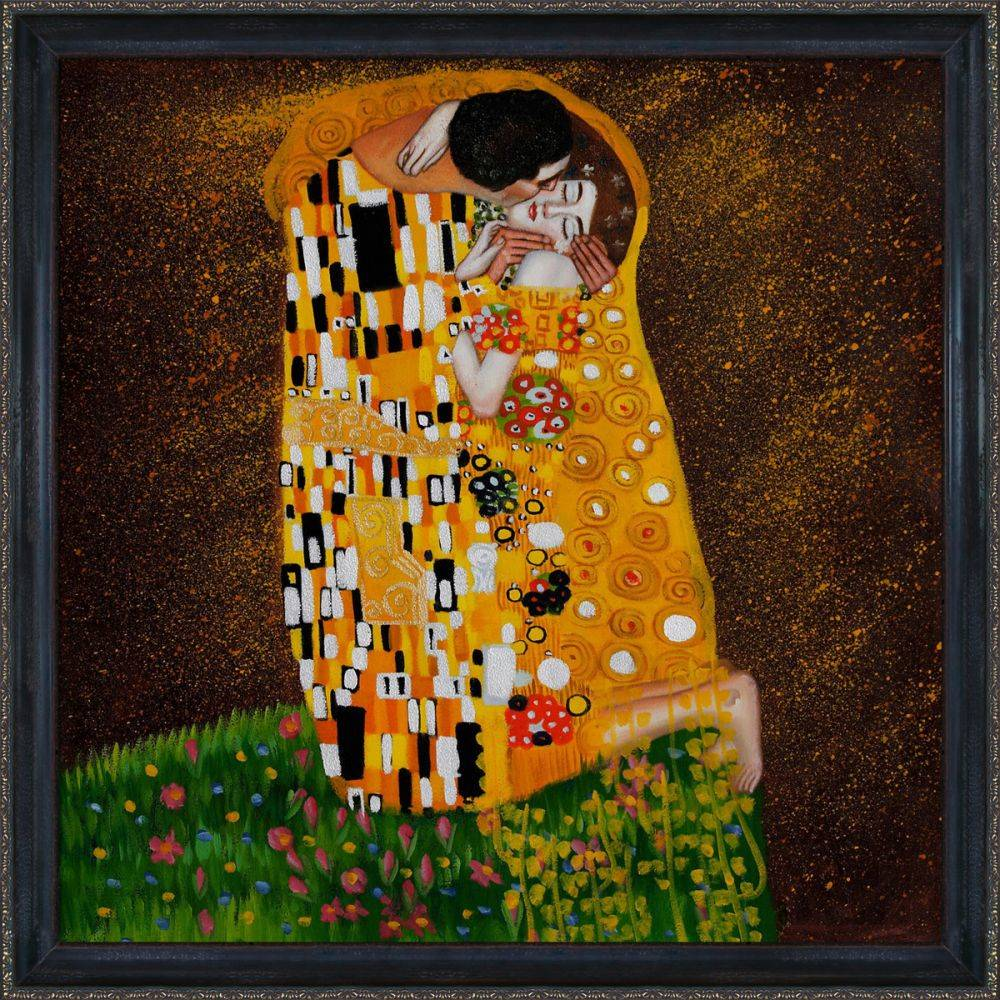 The Kiss (Full view) Oil Painting Pre-Framed