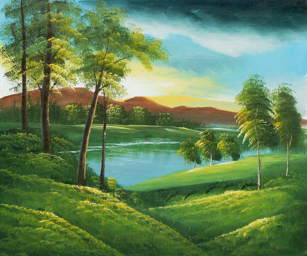 Most beautiful landscape oil paintings for Oil painting scenery