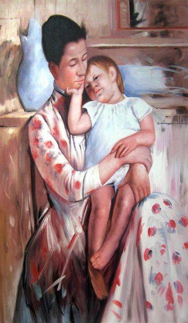 Cassatt - Mother and Child XI - Painting Reproduction